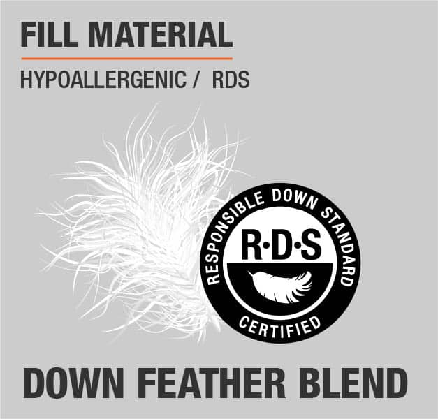 Fill Material Down Feather Blend Hypoallergenic RDS