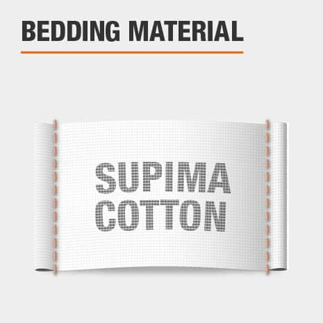 Duvet cover is made of supima cotton material