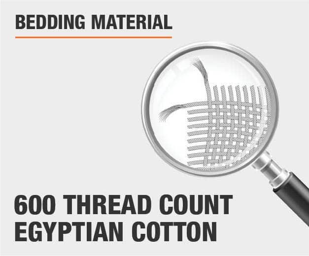 600 Thread Count Egyptian Cotton