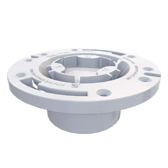 PVC closed toilet flange