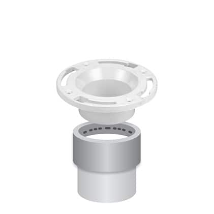 Flange fitting with spigot connection