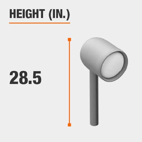 This light's height is 28.5 inches.