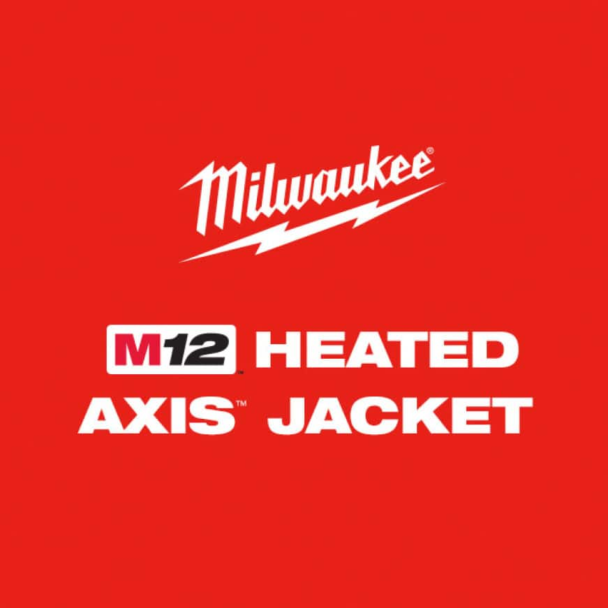 M12 Heated AXIS Jackets are designed to be lightweight and compressible to be used as an inner or mid-layer jacket