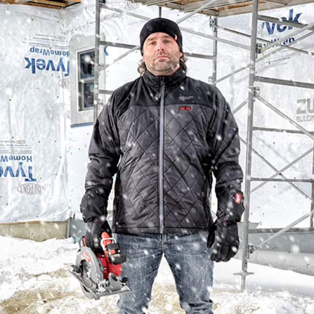 The M12 Heated AXIS Jackets are built to layer and be your primary source of heat