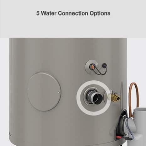 Five water connection options.