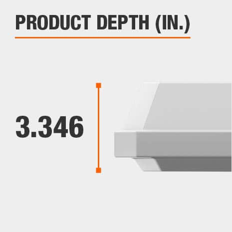 This light fixture has a depth of 3.346 inches.