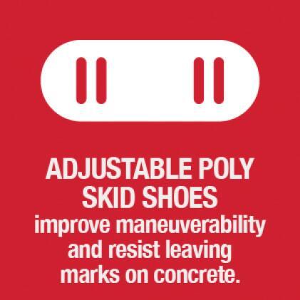 snow blower, snow thrower, skid shoes, Troy-Bilt