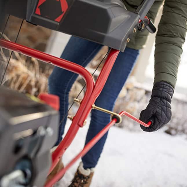 snow blower, snow thrower, chute control, Troy-Bilt