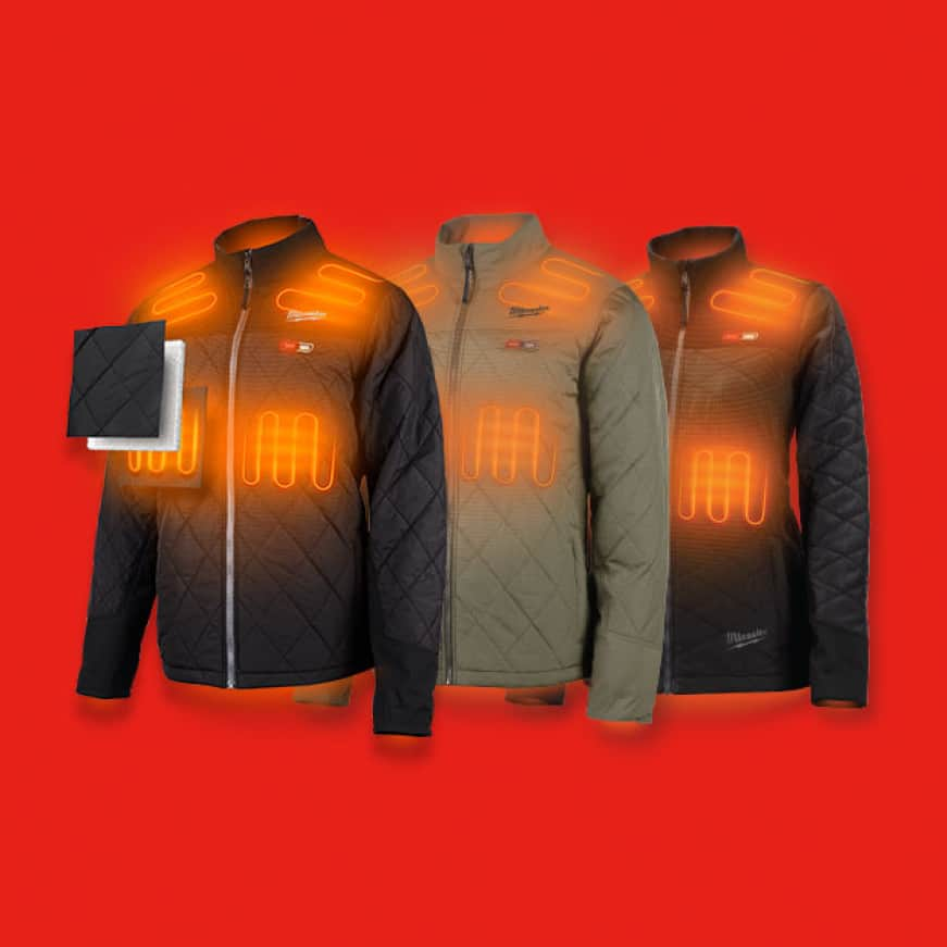 Milwaukee heated jackets use carbon fiber heating technology to create and distribute heat