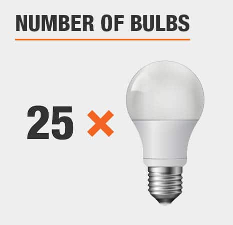 This light has 25 bulbs.