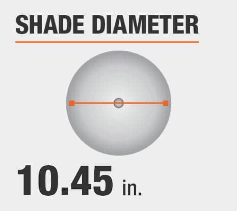 Shade Diameter: 10.45 in.
