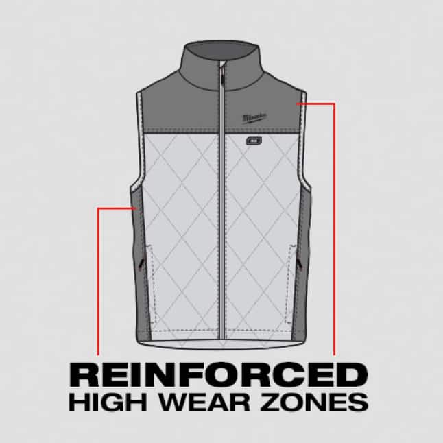 Reinforced High Wear Zones to protect from abrasion and tears