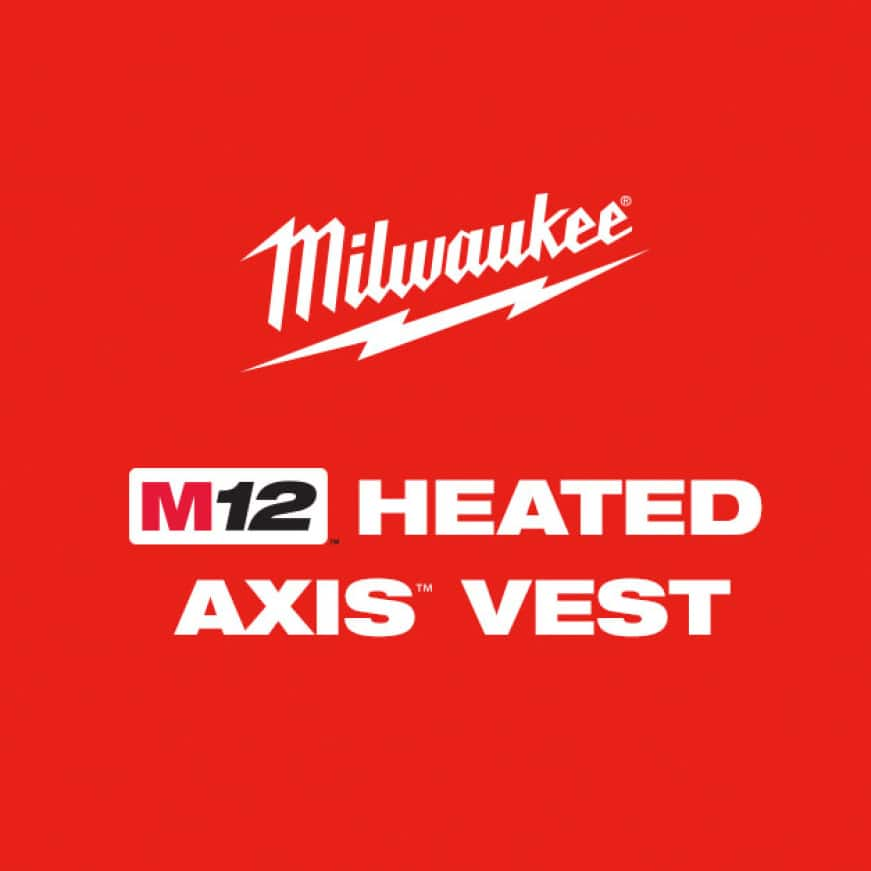 M12 Heated AXIS Vests are designed to be lightweight and compressible to be used as an outer or mid-layer vest