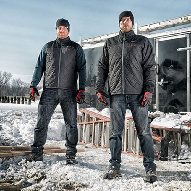 The M12 Heated AXIS Jackets and Vests are built to layer and be your primary source of heat