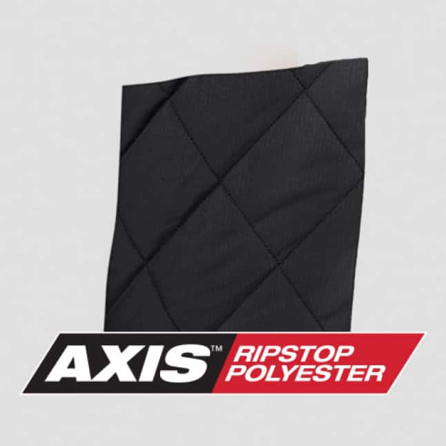 AXIS Ripstop Polyester is more durable and built to layer keeping heat in without adding bulk
