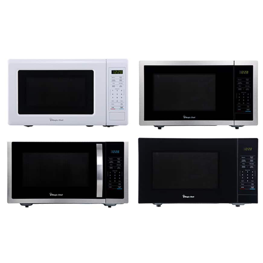Microwaves come in a variety of sizes and colors