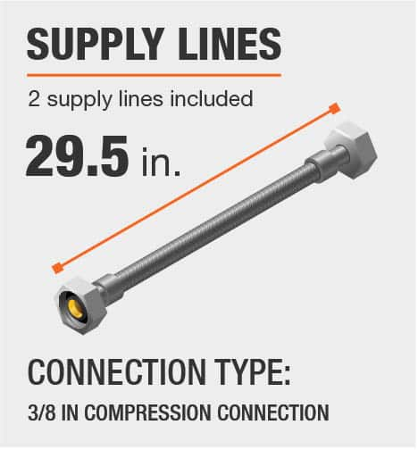 Supply Lines Provided 3/8 Inch Compression Connection