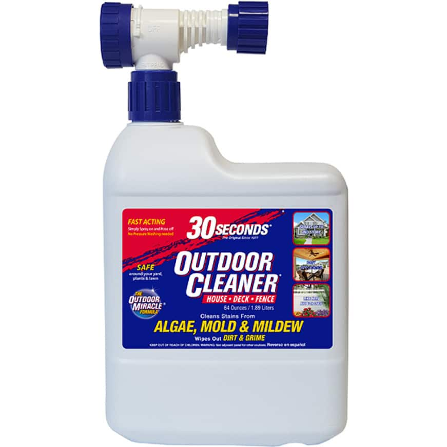 30 SECONDS Outdoor Cleaner Ready-To-Spray cleans stains on all outdoor surfaces