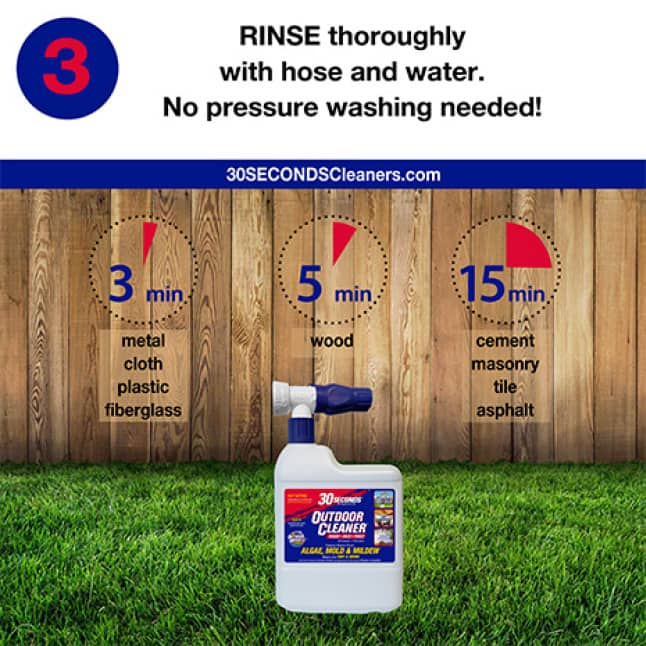 30 SECONDS Outdoor Cleaner Ready-To-Spray step 3