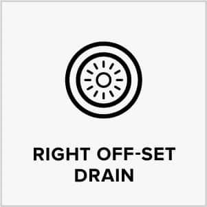 Right Off-SET drain