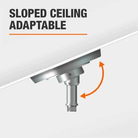 This pendant can be used on a sloped ceiling.