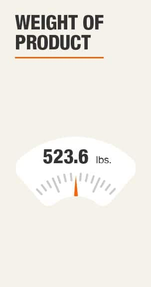 Weight of Product 523.6 pounds