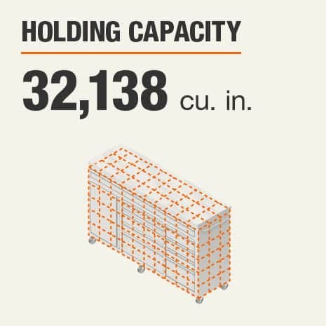 Holding Capacity 32138 Cubic Inches