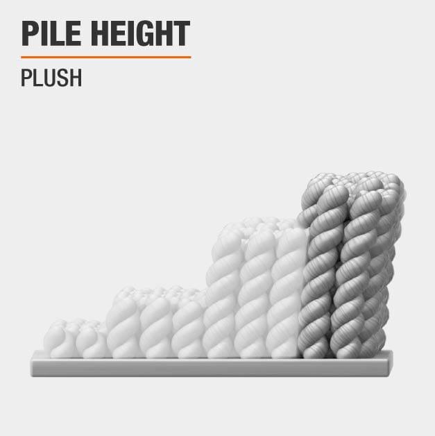 Area Rug has a Plush height