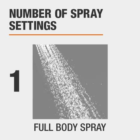 1 full body spray setting