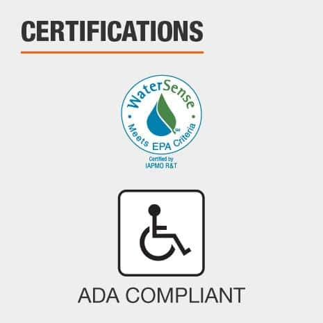 IAPMO Certified and ADA Compliant