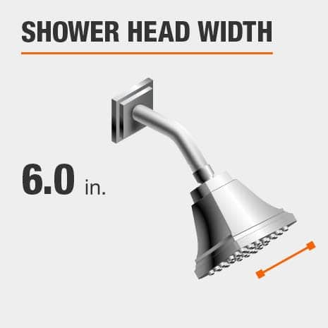 Showerhead is 6.0 Inches Wide