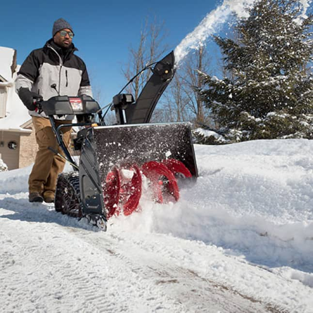 snow blower, snow thrower, two-stage clearing, Troy-Bilt