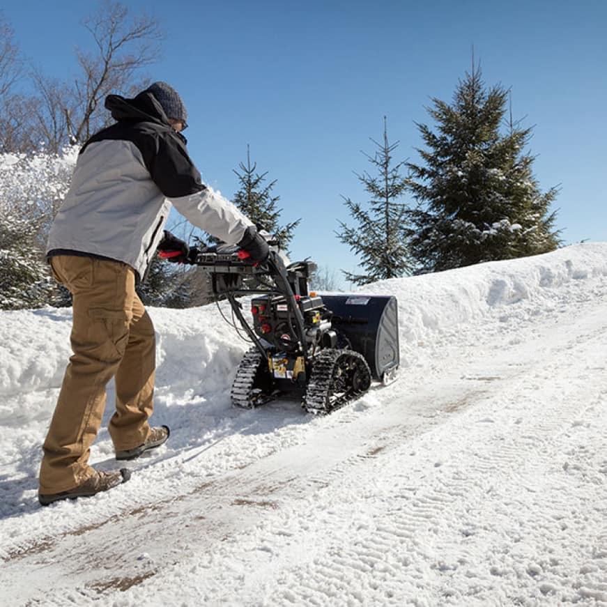 snow blower, snow thrower, track drive, Troy-Bilt