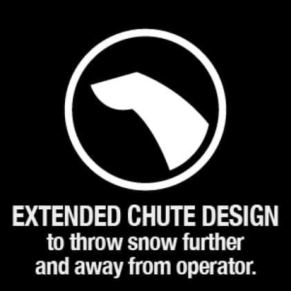 snow blower, snow thrower, extended chute, Troy-Bilt