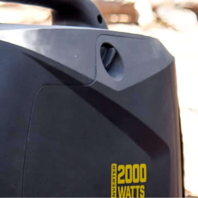 Closeup image of easy access maintenance panel
