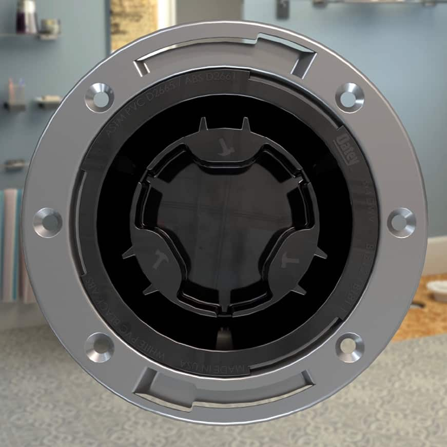 ABS toilet flange with metal ring