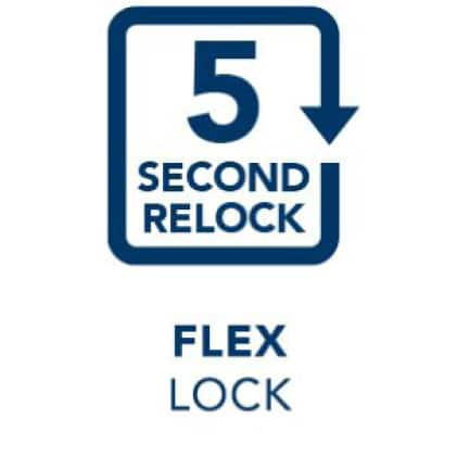 9 second relock icon.