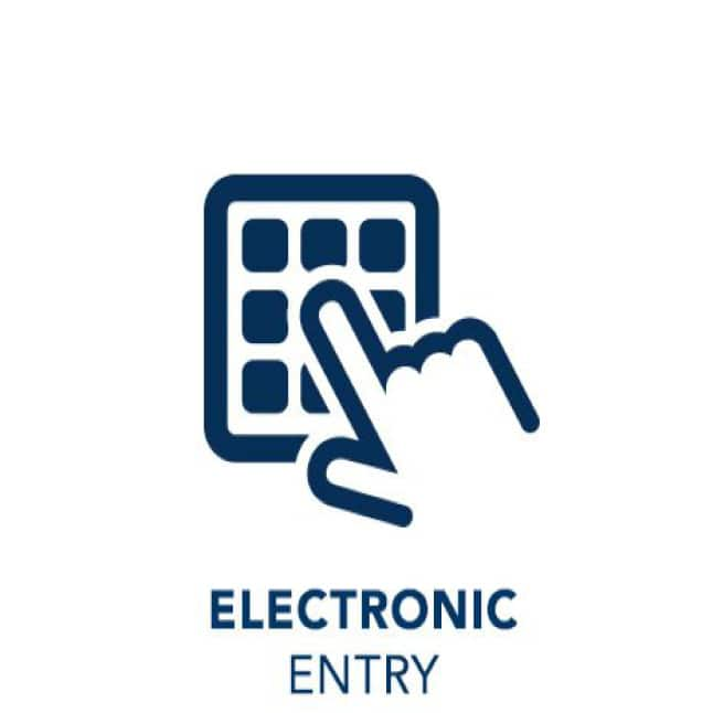 Electronic entry icon of keypad.