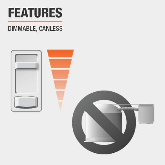 Product feature, Dimmable and canless