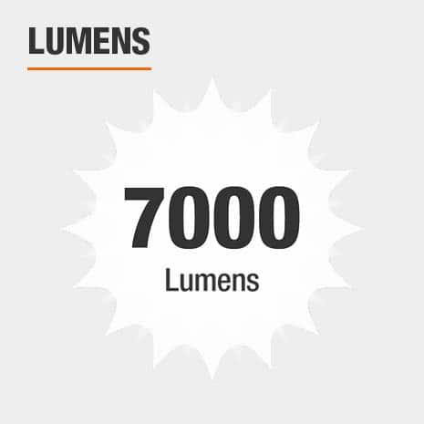 This light has a brightness of 7000 lumens.