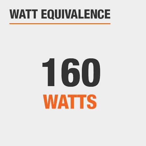 This light has a watt equivalence of 160 watts.