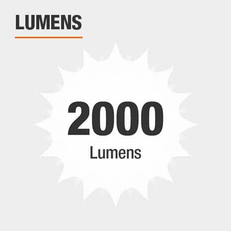 This light has a brightness of 2000 lumens.