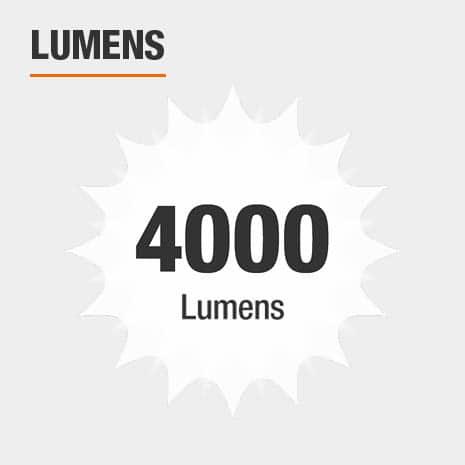This light has a brightness of 4000 lumens.