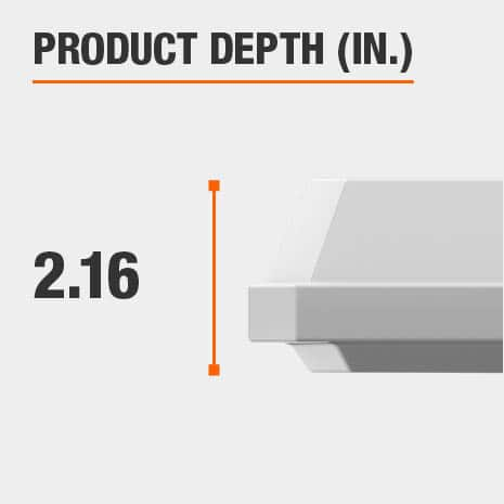 This light fixture has a depth of 2.16 inches.