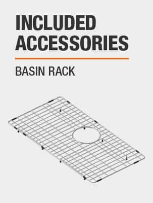 Sink Includes Basin Rack