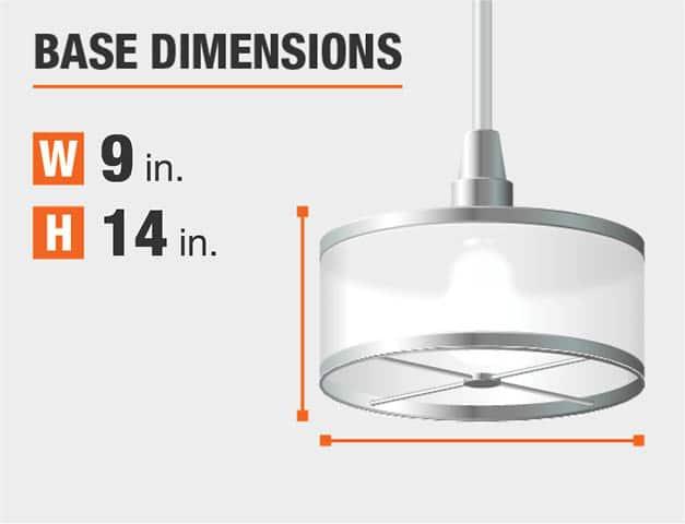 Measurement of a chandelier's base.