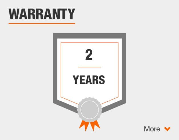 Two Year Warranty. Click for more information.