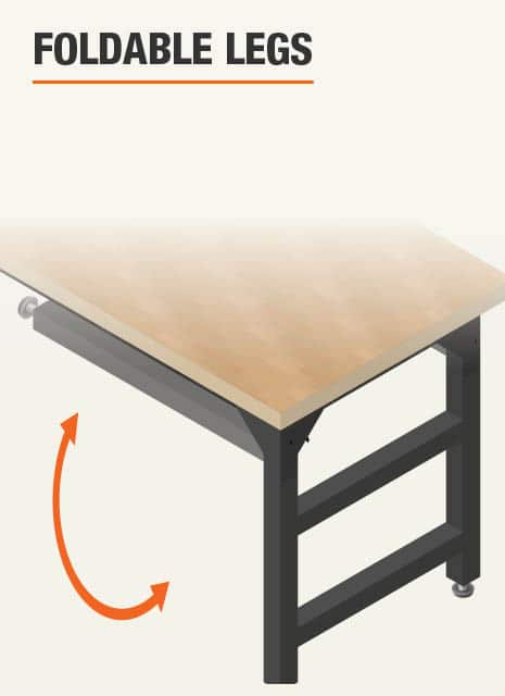 Foldable Workbench Legs