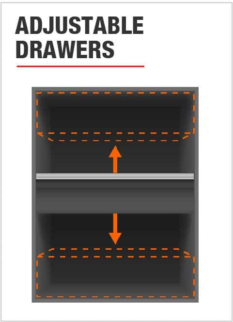 Husky Adjustable Drawers