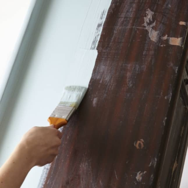 Ultra thick paint spreads easily on wood, metal and more
